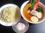 スープカレー 温泉卵