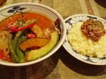 チキン野菜+おくら+納豆