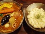 挽き肉納豆と野菜のカリィ+チキン