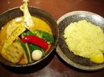 夏野菜のスープカレー+チキンレッグ
