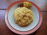 玄米サラダのイエローライス+トルカリ