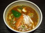 長ネギと納豆のスープカレー